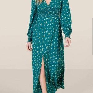 Francesca's Stephanie smocked midi floral dress